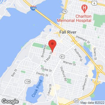 Map of Amy Elizabeth Brice, MD at 795 Middle Street, Fall River, MA 027211733