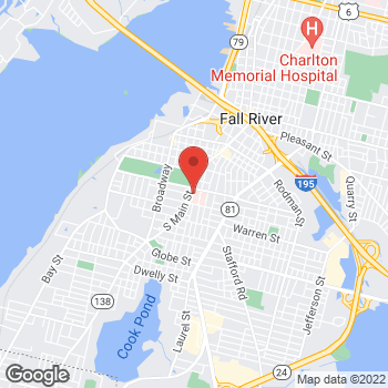 Map of Elliott Anderson, MD at 795 Middle Street, Fall River, MA 02721