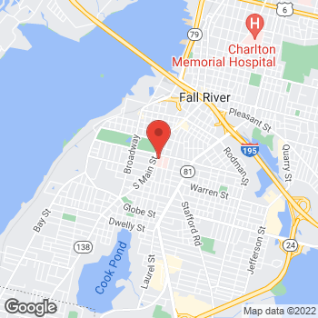 Map of William Guptill, MD at 795 Middle Street, Fall River, MA 02721