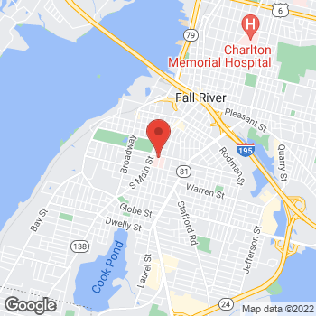 Map of Abolhassan Amouzgar, MD at 795 Middle Street, Fall River, MA 02721
