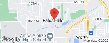 Map of 10709 S Roberts Rd in Palos Hills