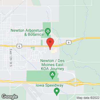 Map of Check `n Go at 305 Iowa Speedway Drive, Newton, IA 50208