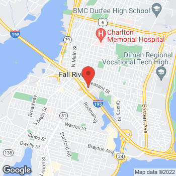 Map of Khalid Alhourani, MD at 203 Plymouth Avenue, Fall River, MA 02721
