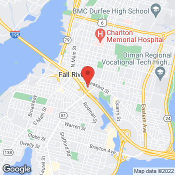 Map of Michael Campbell, DO at 203 Plymouth Avenuebldg 7, Fall River, MA 02721