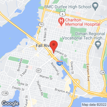 Map of James Kenny, NP at 203 Plymouth Avenue, Fall River, MA 02722-1070