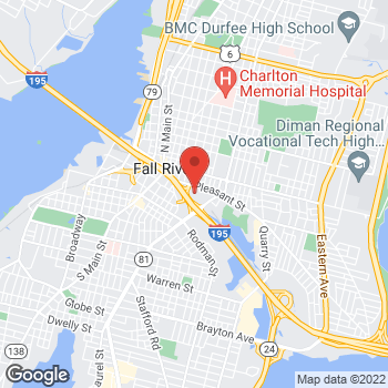 Map of Jennifer Fichter, DPM at 289 Pleasant Streetsuite 202, Fall River, MA 02721