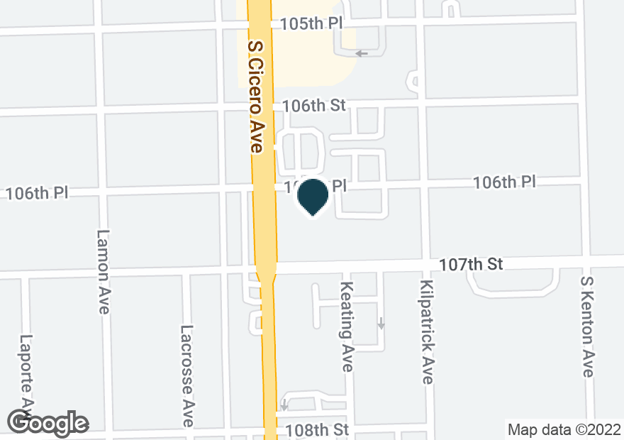 Google Map of10639 S CICERO AVE