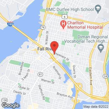 Map of Ana Araujo, NP at 277 Pleasant Street, Fall River, MA 02721