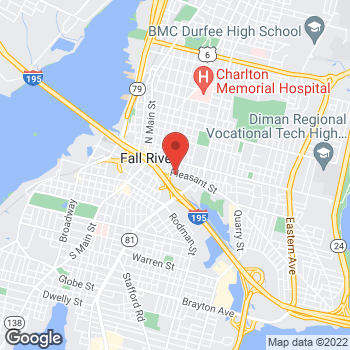 Map of Thomas Kiefer, MD at 289 Pleasant Streetsuite 501, Fall River, MA 02721