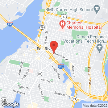 Map of M. Anis Rahman, MD at 289 Pleasant St., Fall River, MA 02721