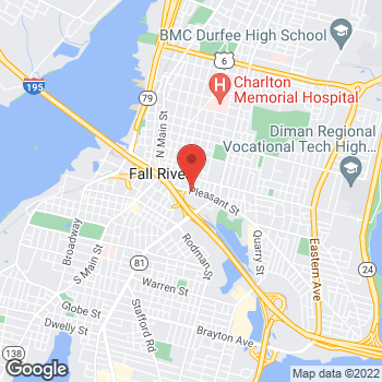 Map of Mena Mesiha, MD at 277 Pleasant St, Fall River, MA 02720