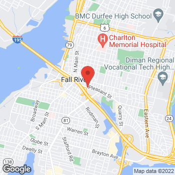 Map of Thomas Capozza, MD at 277 Pleasant Street, Fall River, MA 02721