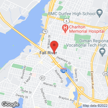 Map of Brendan Carolan, MD at 203 Plymouth Avenue, Fall River, MA 02721