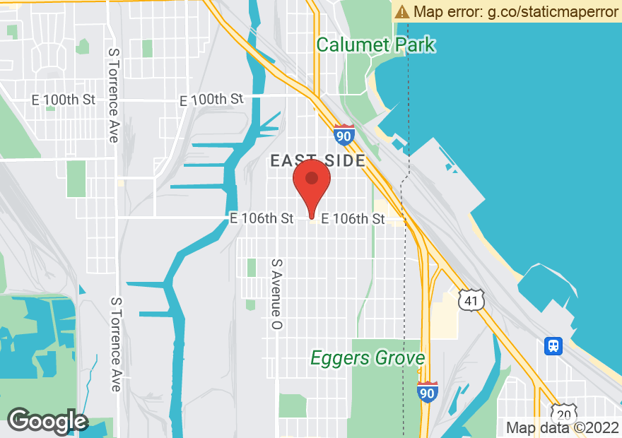 Google Map of 3611 E 106TH ST