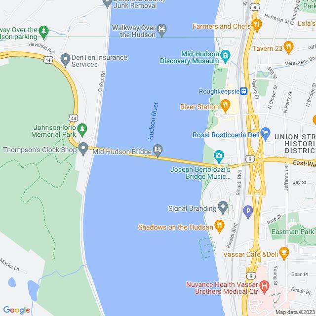 Map of Mid Hudson Franklin D Roosevelt Bridge