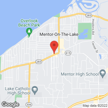 Map of Arby's at 7719 Lakeshore Blvd, Mentor, OH 44060