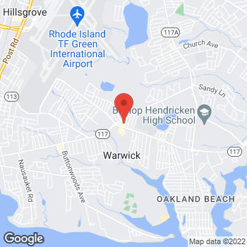 Map of Rite Aid at 2595 West Shore Road, Warwick, RI 02889