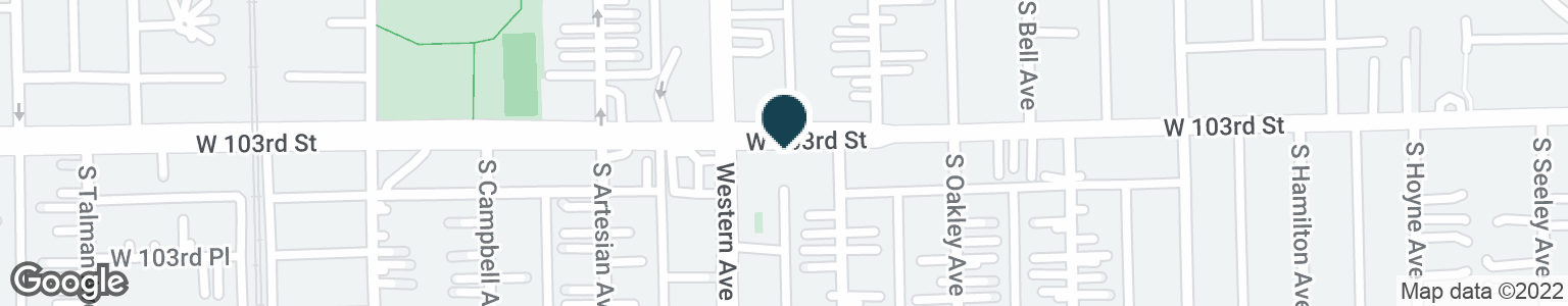 Google Map of2345 W 103RD ST