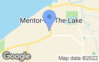 Map of Mentor-on-the-Lake, OH