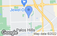 Map of Palos Hills, IL