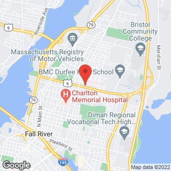Map of Swetha Nataraj, MD at 1030 President Avenuesuite 304, Fall River, MA 02720