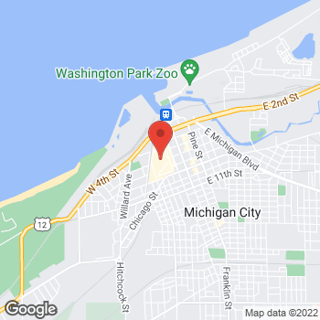 Map of Christopher & Banks Outlet at 511 Lighthouse Place, Michigan City, IN 46360