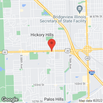 Map of Arby's at 8021 W 95th St, Hickory Hills, IL 60457