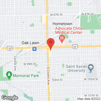 Map of Hair Cuttery at 9535 S Cicero Ave Spc-16, Oak Lawn, IL 60453