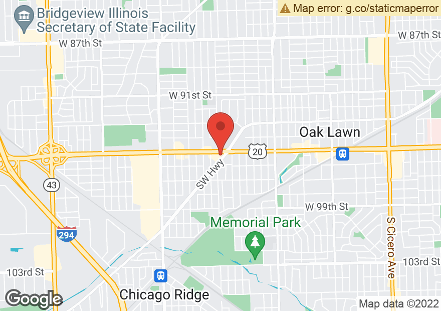Google Map of 6001 W 95TH ST