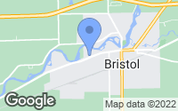 Map of Bristol, IN