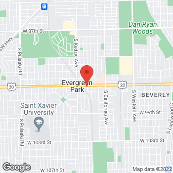 Map of Fifth Third Mortgage - Anthony Contino at 3017 West 95th Street, Evergreen Park, IL 60805