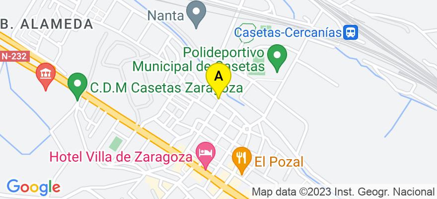 situacion en el mapa de . Direccion: Calle Moncayo, 50196 Zaragoza. Zaragoza