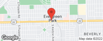 Map of 3212 W 95th St in Evergreen Park