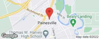 Map of 76 S Park Pl in Painesville
