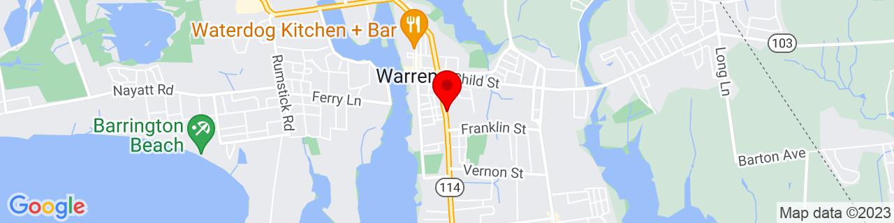 Google Map of 41.727073, -71.281538