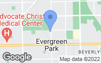Map of Evergreen Park, IL