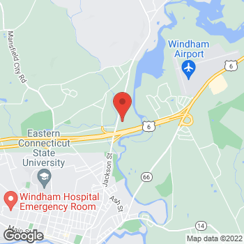 Map of Staples at 82 Storrs Road, Willimantic, CT 06226