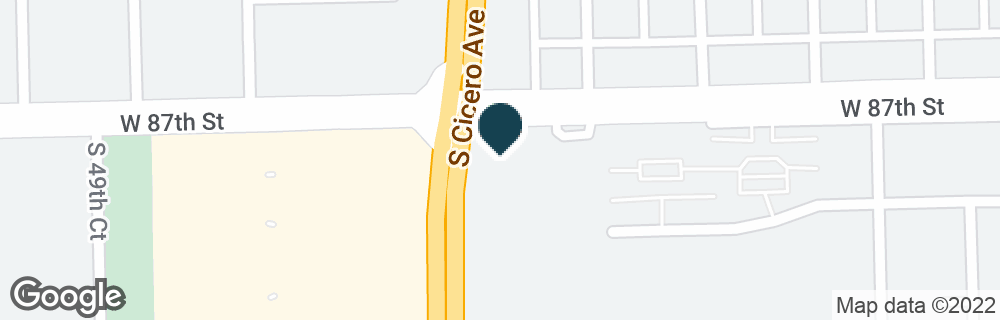 Google Map of8701 S CICERO AVE