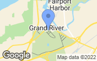 Map of Grand River, OH