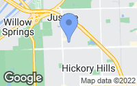 Map of Hickory Hills, IL