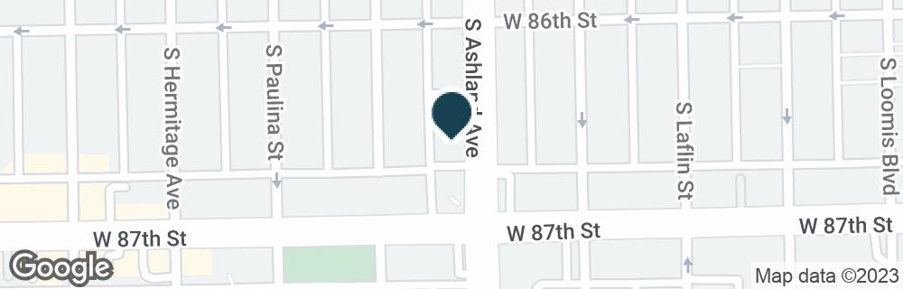 Google Map of8636 S ASHLAND AVE