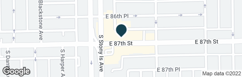 Google Map of1616 E 87TH ST