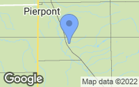 Map of Pierpont, OH
