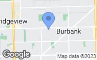 Map of Burbank, IL
