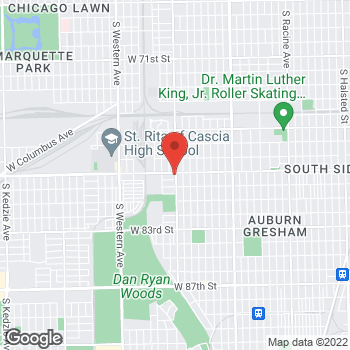 Map of Check `n Go 79th St. at 2003 W 79th St., Chicago, IL 60620