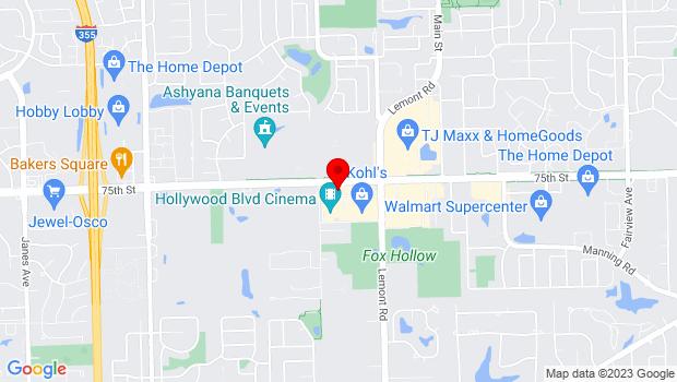 Google Map of 1001 West 75th Street, Woodridge, IL 60517