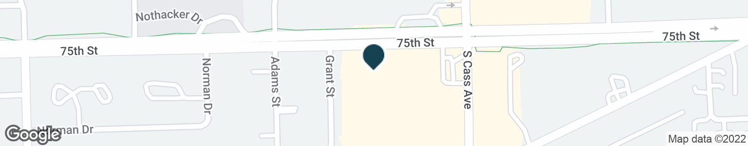 Google Map of7516 S CASS AVE