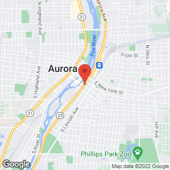 Map of Fifth Third Mortgage - Nancy Alfaro at 34 South Broadway, Aurora, IL 60505