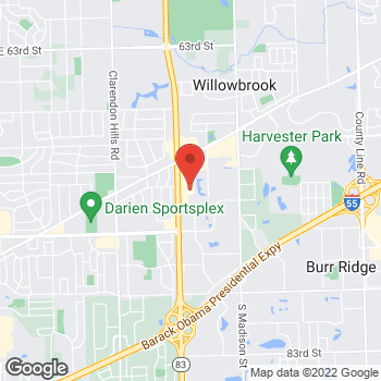 Map of Staples at 7199 S Kingery Hwy, Willowbrook, IL 60527
