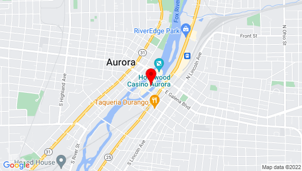 Google Map of 23 East Galena Boulevard, Aurora, IL 60506